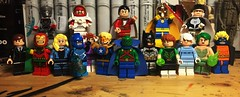 Justice League International (Lord Allo) Tags: lego dc justice league international maxwell lord mister miracle captain atom black canary rocket red blue beetle booster gold elongated man marvel shazam martian manhunter batman guy gardner doctor fate ice fire dr light animal