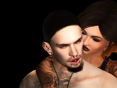 Coming Home (GiovanniButton) Tags: girl people couple sl love lindenlabs man shadow brounette shave beard black light photography colour portrait couples women men boy brunette romance color angel