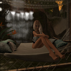 Reflection (Kitten Agnomen) Tags: beach swimsuit sunset thoughts second life