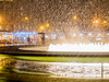 Heavy Snowfall (deepaqua) Tags: night lincolncenter upperwestside taxi winter fountain umbrella streetlamp uws snow