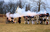 Fire! (Jen_Vee) Tags: fire drill regiment 2ndpennsylvania history reenactment soldiers army continental valleyforge musket flash smoke cannon artillery muhlenberg boom uniforms blue red