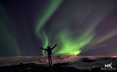 I am Making My Dreams Come True (*•●☆★☆ bumble~bee ☆★☆●•*) Tags: aurora borealis northernlights auroraborealis winter cold longexposure iceland akureyri