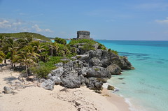 Tulum ruins, Mexico (Jecika381) Tags: tulum ruins mexico yucatan riviera maya architecture beach sand sea ocean caribbean