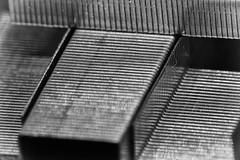 Holding together! (Herr Nergal) Tags: hx400v dsc sony macro makro macromondays fastener saarland black white bw sw schwarz weiss monochrome pattern muster staples klammern raynox150 close up 7dwf