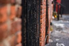 Caged (Nick Martin BNB) Tags: urban nikon city black white beautiful weather rain old modern art canada saintjohn