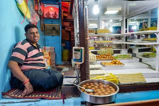 Street seller of sweets of Varanasi...India 2017