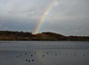 rainbow over the lake (Johnson Cameraface) Tags: olympus omde1 em1 micro43 mzuiko 1240mm f28 johnsoncameraface doncasterlakeside water lakeside lake rainbow southyorkshire december 2017 autumn