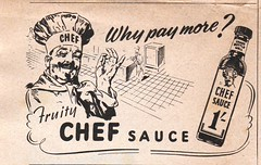 sauce (*Notes) Tags: advertising 1950s sauce chef cooking fruity