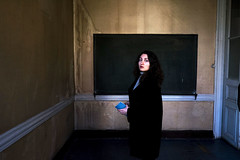 Art lover (cekic photography) Tags: classroom art photography girl people portre face istanbul turkey turkish human life building architecture abandoned light landscape urban photojournalism artlover