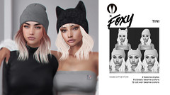 Tini @ N21 (liza.broono) Tags: sl second life foxy hair style fitted rigged unrigged beanie hat cat ears n21 event fashion catwa lelutka maitreya villena moonrabbit mr collab tini kit messy