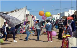 balloons at the market