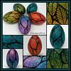 Painted Goose Eggs (MandarinMoon) Tags: paintedeggs eastereggs eggart eggornament rainbow springdecor eggshell