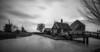 Zaanse winter B&W (reinaroundtheglobe) Tags: zaandam zaanseschans cheesefactory nederland holland thenetherlands netherlands noordholland blackandwhite bnw winter longexposure nopeople traditionalwindmill windmill mills traveldestination touristdestination
