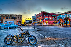 Lucky Vintage Venice Beach California Classic Motorcycle Sunset Dusk! Epic High Resolution Fine Art Landscape Photography -- Nikon + Nikkor AF-S NIKKOR 14-24mm f/2.8G ED (45SURF Hero's Odyssey Mythology Landscapes & Godde) Tags: epic high resolution photography fine art landscape nature light beams dr elliot mcgucken nikon wide angle nikkor zoom afs ed