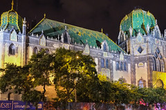 Museum of Applied Arts, Budapest (Marian Pollock) Tags: budapest hungary artnouveau architecture colourful zsolnai tiles night museum appliedarts europe building iluminated