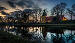 Fürstenau (andreasmally) Tags: fürstenau castle schloss schlossteich pond deutschland germany sunset wasser water himmel