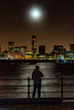 Super Blue Blood Moon over Liverpool Waterfront (paullee66416) Tags: nighttime moonlit waterfront liverpool river mersey water silhouette