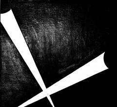 Relation 9/10 (1957) - José de Almada Negreiros (1893-1970) (pedrosimoes7) Tags: josédealmadanegreiros caloustegulbenkianmuseum moderncollection lisbon portugal geometrique geometric geométrico blackandwhite blackwhite