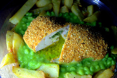 Garlic Chicken Kiev, Mushy Peas and Chips (Tony Worrall) Tags: add tag ©2018tonyworrall images photos photograff things uk england food foodie grub eat eaten taste tasty cook cooked iatethis foodporn foodpictures picturesoffood dish dishes menu plate plated made ingrediants nice flavour foodophile x yummy make tasted meal nutritional freshtaste foodstuff cuisine nourishment nutriments provisions ration refreshment store sustenance fare foodstuffs meals snacks bites chow cookery diet eatable fodder garlicchickenkiev mushypeasandchips garlic meat