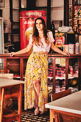 Camila (alcure85) Tags: ifttt 500px portraits yellow beauty brunette dress balcony beer skirt white bar