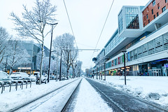 Winter snow in Paris City and its parks (arnaud_martinez) Tags: aubervilliers france ice paris white architecture beautiful bench boat buildings cold falling fence freezing garden offices park river snow track trees winter