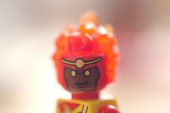 The Mighty Firestorm (Kelko585) Tags: minifigure minifig minifigures macro afol dc firestorm superhero lego