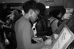 The Signing Session (The_Kevster) Tags: woman person portrait musician artist cd music signing autograph launch gig concert dslr nikon d3300 london sw2 brixton ritzy southlondon upstairsattheritzy event quadrafon ese qmi eseokorodudu esethevooduupeople