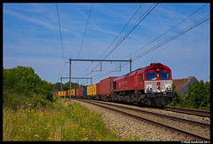 Crossrail DE6308, Wonck 19-07-2017 (Henk Zwoferink) Tags: bassenge wallonie belgië be cr rhenus henk zwoferink crossrail class66 emd 6308 de6308 wonck