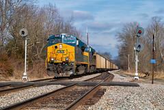 CSX 3230 - Lynn, KY (Wheelnrail) Tags: csx csxt ge es44ac locomotive coal train trains rail road rails searchlight signal ln louisville nashville t700 kentucky ky cc subdivision lynn
