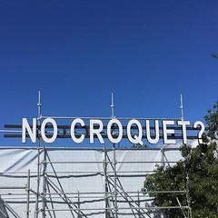 No Croquet? (RS 1990) Tags: rcc royalcroquetclub nocroquet anyoneforcroquet signboard adelaide australia february 2018 fringe festival