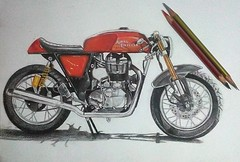 Draw Royal enfield continental (herneysartista) Tags: royalenfieldcontinental royalenfield motoclásica motovintage caféracer motocicleta motorcycle style objetodedeseo diseñoindustrial designe drawing draw dibujo art arte artista ilustración dibujoconcolores hechoamano ilustration pideeltuyo colombia santiagodecali calico medellín moteros