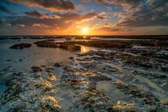 Saltdean Sun (Sam_C_Moore) Tags: sunset sussex brighton rocks lowtide clouds reflection longexposure