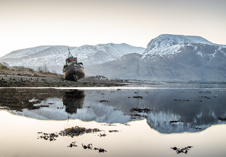 Wreck at Corpach near Fort William