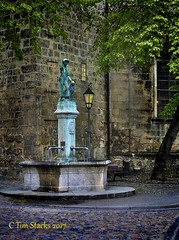 A BOY AND HIS DOG (MERLIN08, 3MViews) Tags: germany saxonyanhalt quedlinburg statue fountain architecture outdoors
