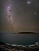 Observatory Island (Astronomy*Domine) Tags: esperance westernaustralia observatory island panorama canon 6d baader mod milkyway lmc smc stack