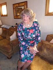 Aunt Laurette (Laurette Victoria) Tags: dress floralprint jewelry laurette woman auntlaurette