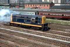 Santa Fe 543 Chicago Aug 1970 2 (jsmatlak) Tags: chicago atsf fairbanks morse fm santa fe 543 locomotive engine switcher yard railroad train