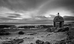 The Round House (stephen cosh) Tags: ayrshire blackandwhite culzean hasselbladx1d hasselbladxcd30mm landscape mediumformat mono scotland stephencosh