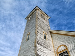 ... (Jean S..) Tags: tower church rural sky clouds old ancient windows architecture