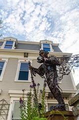 If you're gonna have a lawn ornament in P-Town (GmanViz) Tags: gmanviz color nikon d7000 house building art sculpture statue provincetown ptown capecod massachusetts