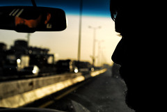 A road to Beirut (rvjak) Tags: liban beirut beyrouth middleeast moyenorient d200 nikon road route sunset coucher de soleil face visage reflection reflet men hommes travel trip