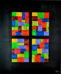 A Pair Of Four, 50 x 60 cm, € 595 (dverspeelt) Tags: abstract paintings modern art contemporary gallerie dieterverspeelt rtfactory