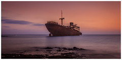 Temple Hall. (Ian Emerson (Trying to catch up)) Tags: ship shipwreck seascape sea coastal sunset abandoned 1981 lanzarote arrecife load cargo wood canon colourful rusty hoya 1855mm photography photographic outdoor