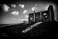 St Catherine's Chapel in the Midday Sun (ed027) Tags: ifttt 500px church contrast sun light clouds architecture lights beautiful view shadow black white history town dark castle shadows mood cloud cathedral landmark gothic ruins historical mono historic derelict steeple kingdom fortification ardmore