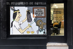IL BARBIERE DI SIVIGLIA (ADRIANO ART FOR PASSION) Tags: siviglia seville barbiere barbieredisiviglia rossini opera parrucchiere negozio caricatura disegno nikon nikond90 peluquero barbershop figaro