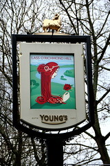 Pub sign for the Lass O' Richmond Hill. (Peter Anthony Gorman) Tags: lassorichmondhill pubsigns youngsbrewery richmondpubs
