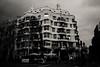 "Casa Milà  "" La Pedrera"" (Frederique Triffaux) Tags: pentaxk1 monochrome facebook casamila barcelona pentaxart lapedrera gaudi"