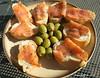 Olives & Parma Ham Canapés - Edinburgh Scotland (WanderingPhotosPJB) Tags: accumulation flickruploaded food olives parmaham canapés scotland edinburgh