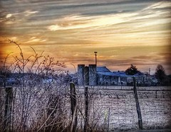 A snowy sunrise on a local farm. This was taken back in December when we had the first snow. (Edale614) Tags: snow sunrise snowy farm columbus ohio cloudy nature landscapephotography earl614
