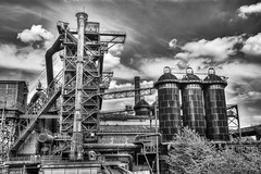 Landschaftspark Duisburg (Germany) (Marten Sikkens) Tags: landschaftspark duisburg industry abandoned germany furnace blastfurnace hoogoven iron ijzererts niksilverefex hdrfromsingleraw
